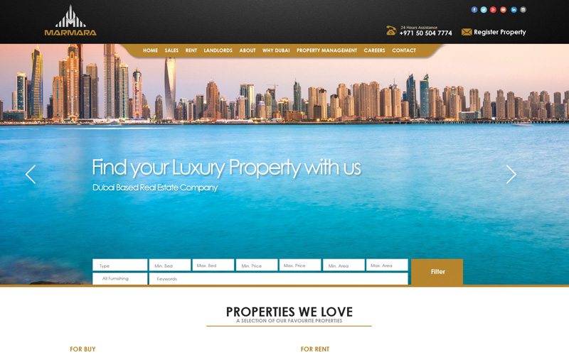 Real Estate Web Design and Development for Marmara Property